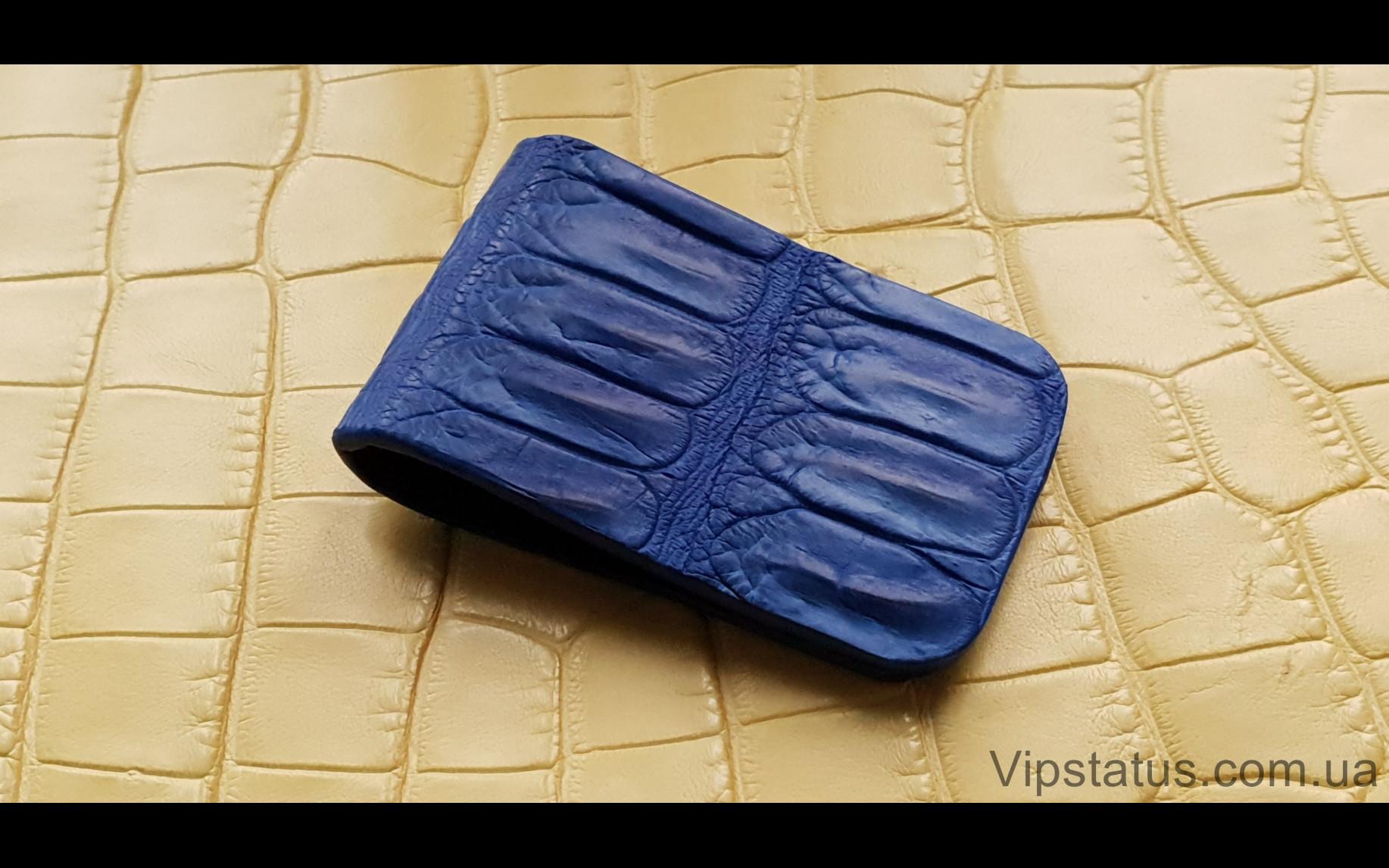 Elite Dark Blue Crocodile Вип зажим для купюр Dark Blue Crocodile Vip bill clip image 1
