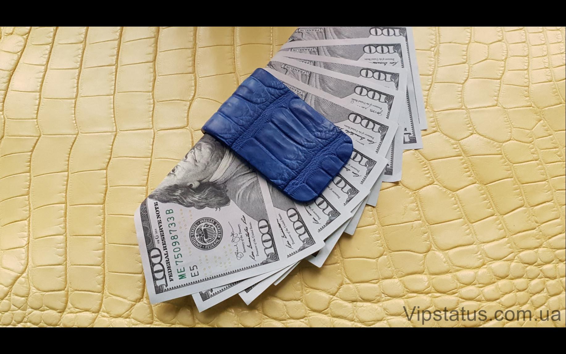 Elite Dark Blue Crocodile Вип зажим для купюр Dark Blue Crocodile Vip bill clip image 2