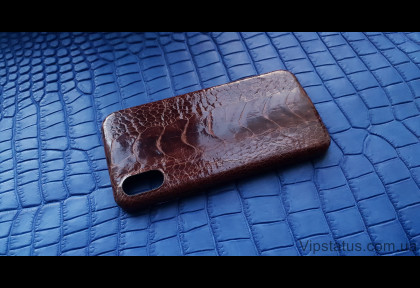 Brown Gloss Luxury case IPhone X XS Ostrich Leather image