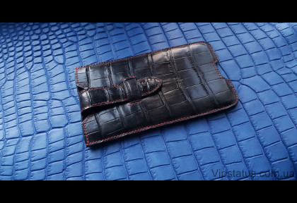 Classic Edition Премиум кейс IPhone X XS 11 Pro 12 Pro кожа крокодила изображение