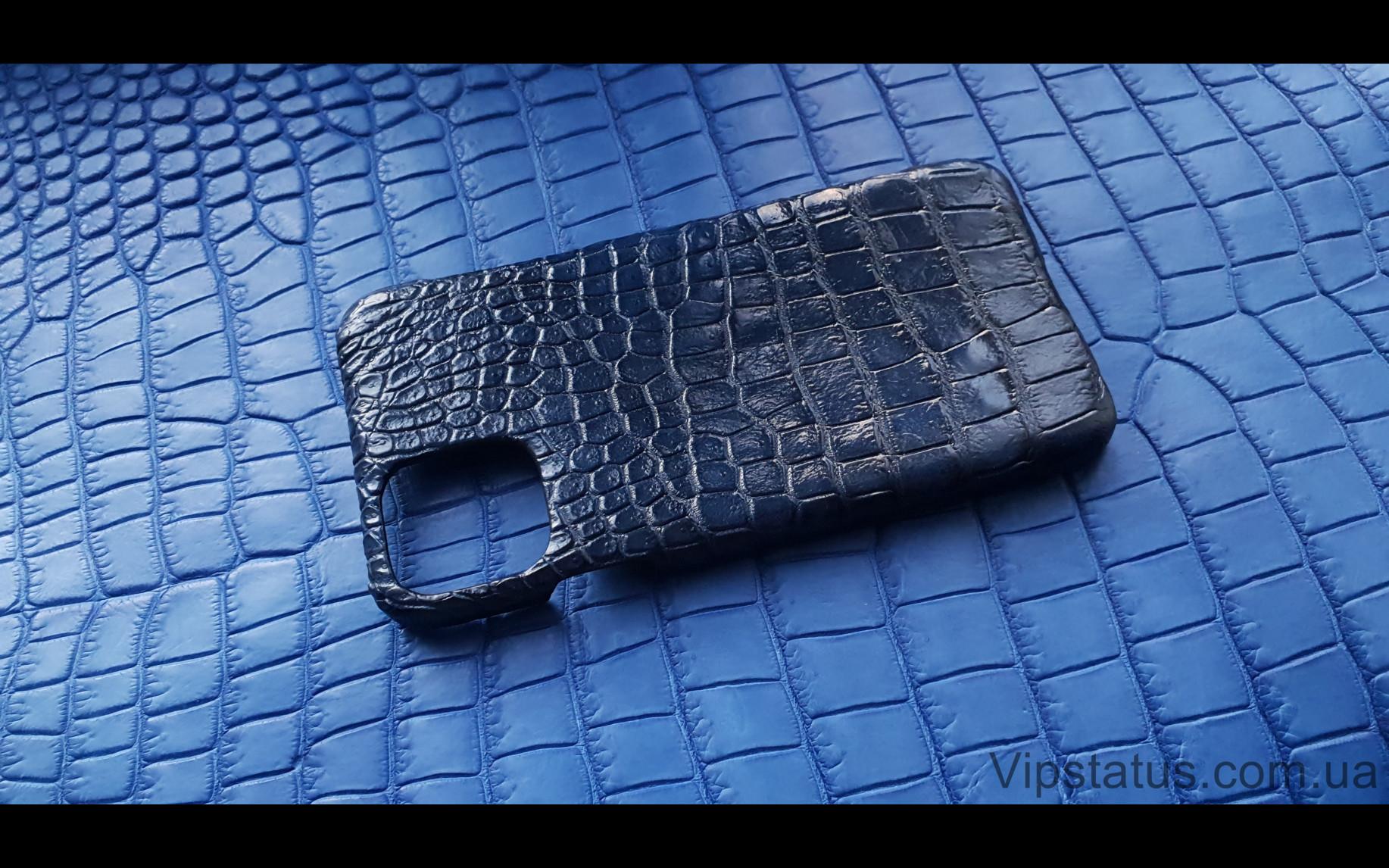 Elite Dark Blue Вип чехол IPhone 11 Pro Max кожа крокодила Dark Blue Vip case IPhone 11 Pro Max Crocodile leather image 1