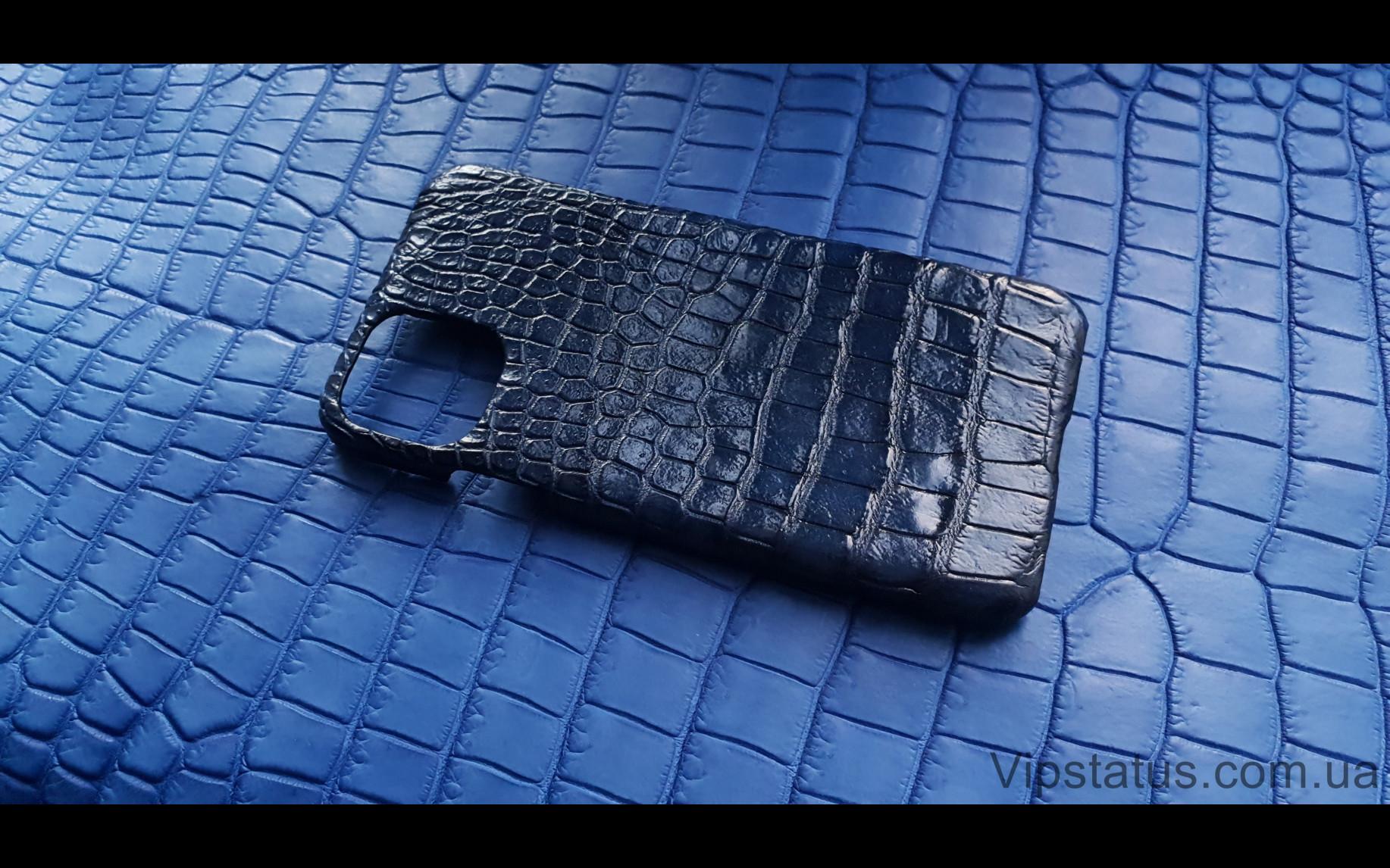 Elite Dark Blue Вип чехол IPhone 11 Pro Max кожа крокодила Dark Blue Vip case IPhone 11 Pro Max Crocodile leather image 2