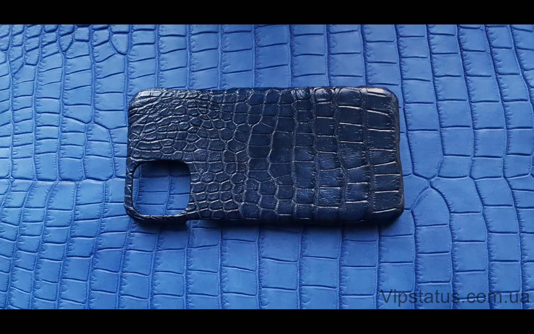 Elite Dark Blue Вип чехол IPhone 11 Pro Max кожа крокодила Dark Blue Vip case IPhone 11 Pro Max Crocodile leather image 4