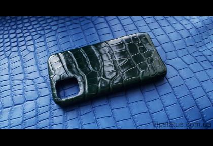 Dark Green Luxury case IPhone 11 Pro Max Crocodile leather image