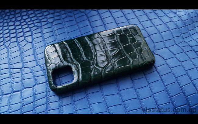 Элитный Dark Green Люксовый чехол IPhone 11 Pro Max кожа крокодила Dark Green Люксовый чехол IPhone 11 Pro Max кожа крокодила изображение 1