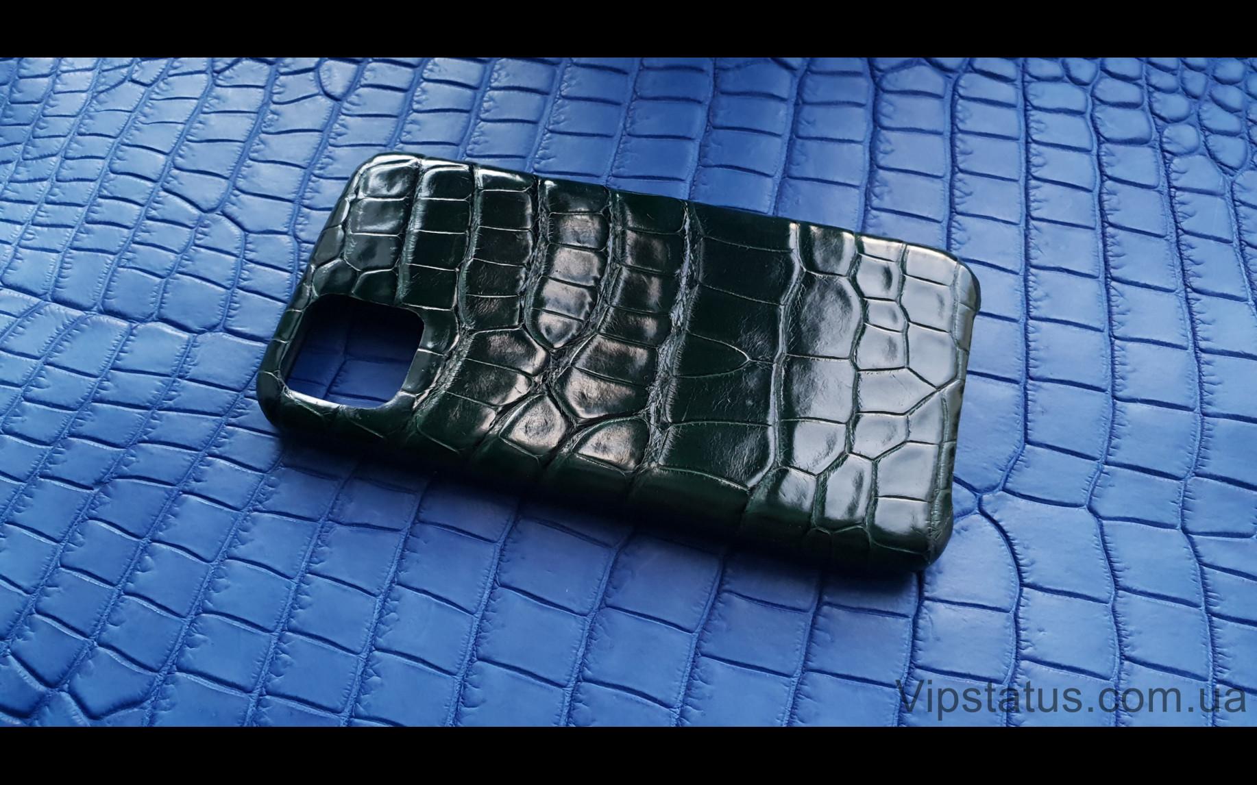Элитный Dark Green Люксовый чехол IPhone 11 Pro Max кожа крокодила Dark Green Люксовый чехол IPhone 11 Pro Max кожа крокодила изображение 2