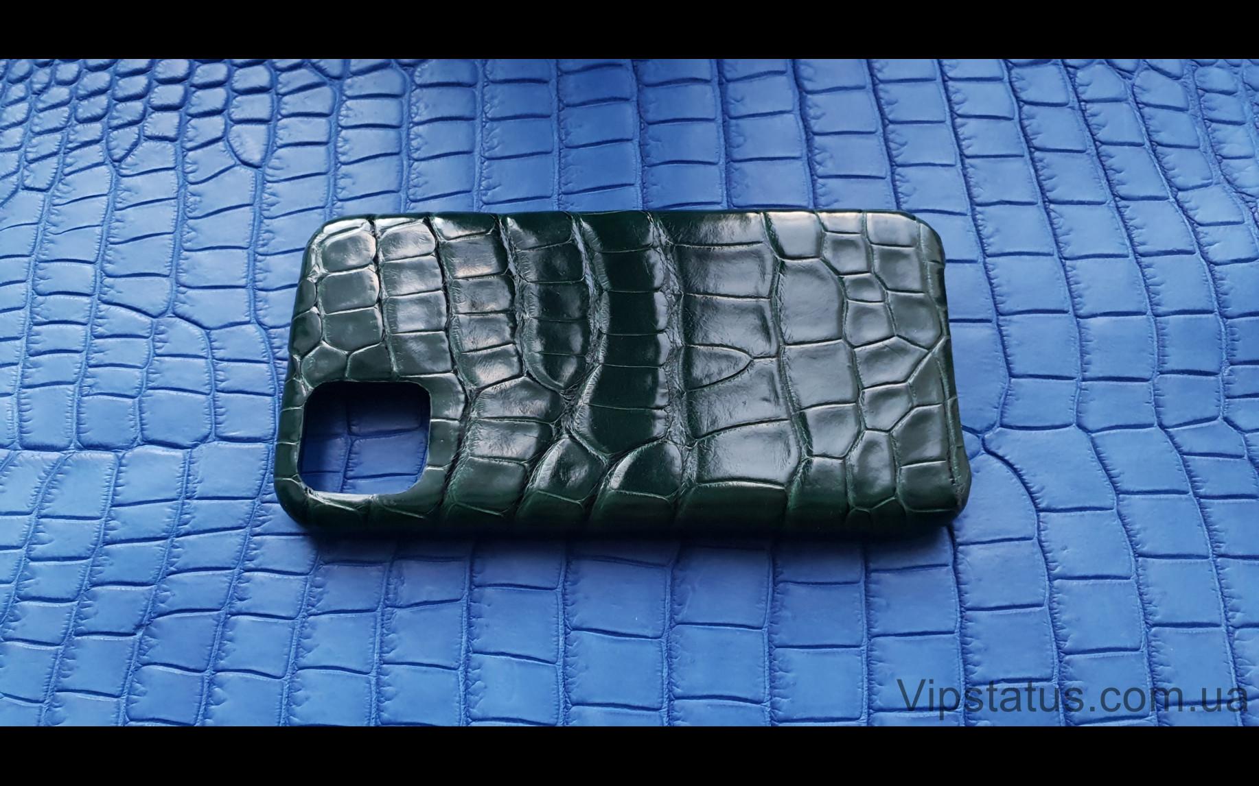 Элитный Dark Green Люксовый чехол IPhone 11 Pro Max кожа крокодила Dark Green Люксовый чехол IPhone 11 Pro Max кожа крокодила изображение 3
