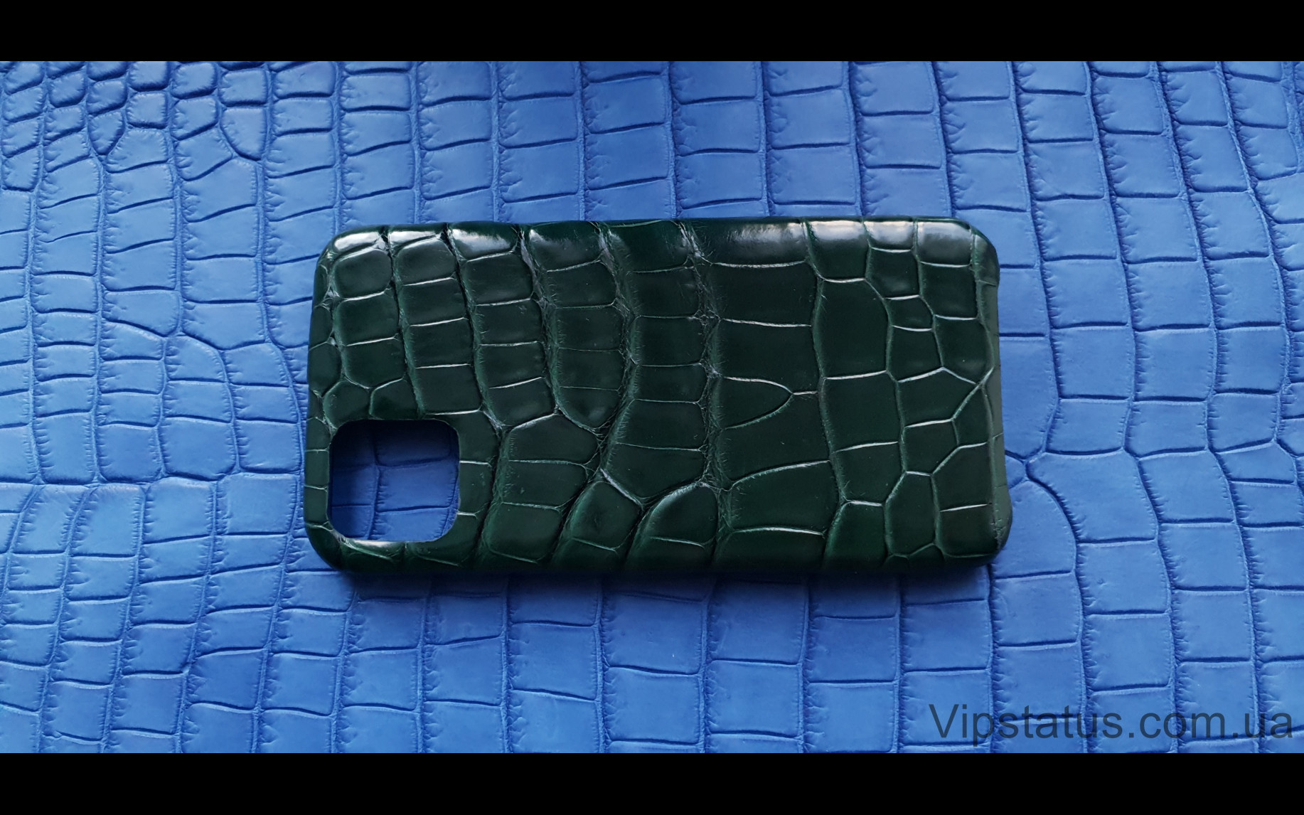 Элитный Dark Green Люксовый чехол IPhone 11 Pro Max кожа крокодила Dark Green Люксовый чехол IPhone 11 Pro Max кожа крокодила изображение 4