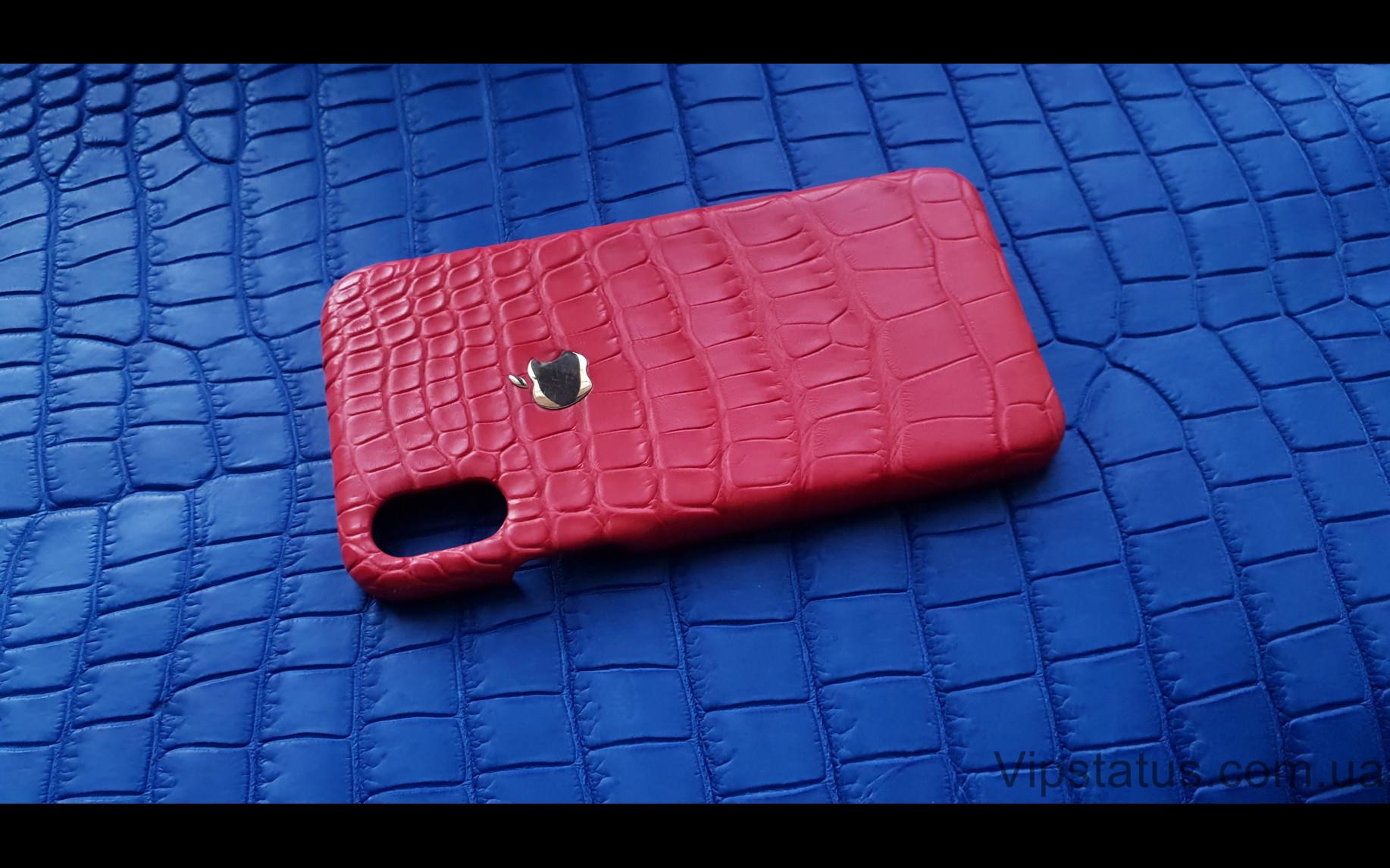Elite Gold Apple Люксовый чехол IPhone X XS кожа крокодила Gold Apple Luxury case IPhone X XS Crocodile leather image 1