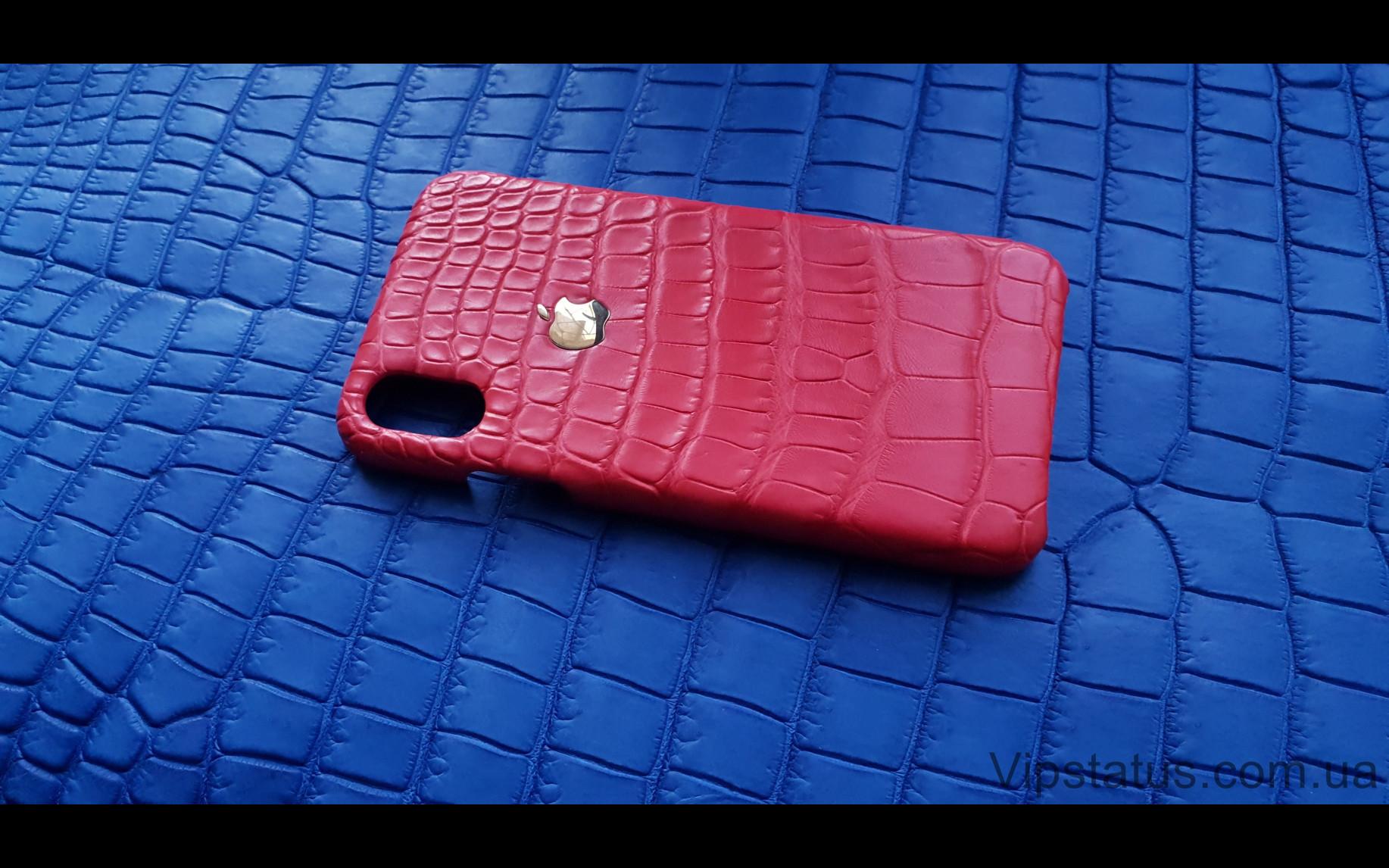 Elite Gold Apple Люксовый чехол IPhone X XS кожа крокодила Gold Apple Luxury case IPhone X XS Crocodile leather image 2
