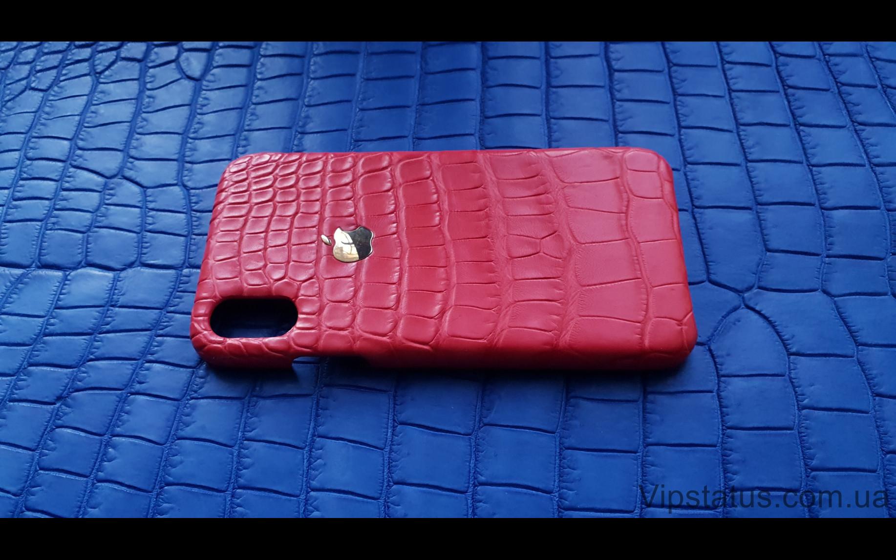 Elite Gold Apple Люксовый чехол IPhone X XS кожа крокодила Gold Apple Luxury case IPhone X XS Crocodile leather image 3