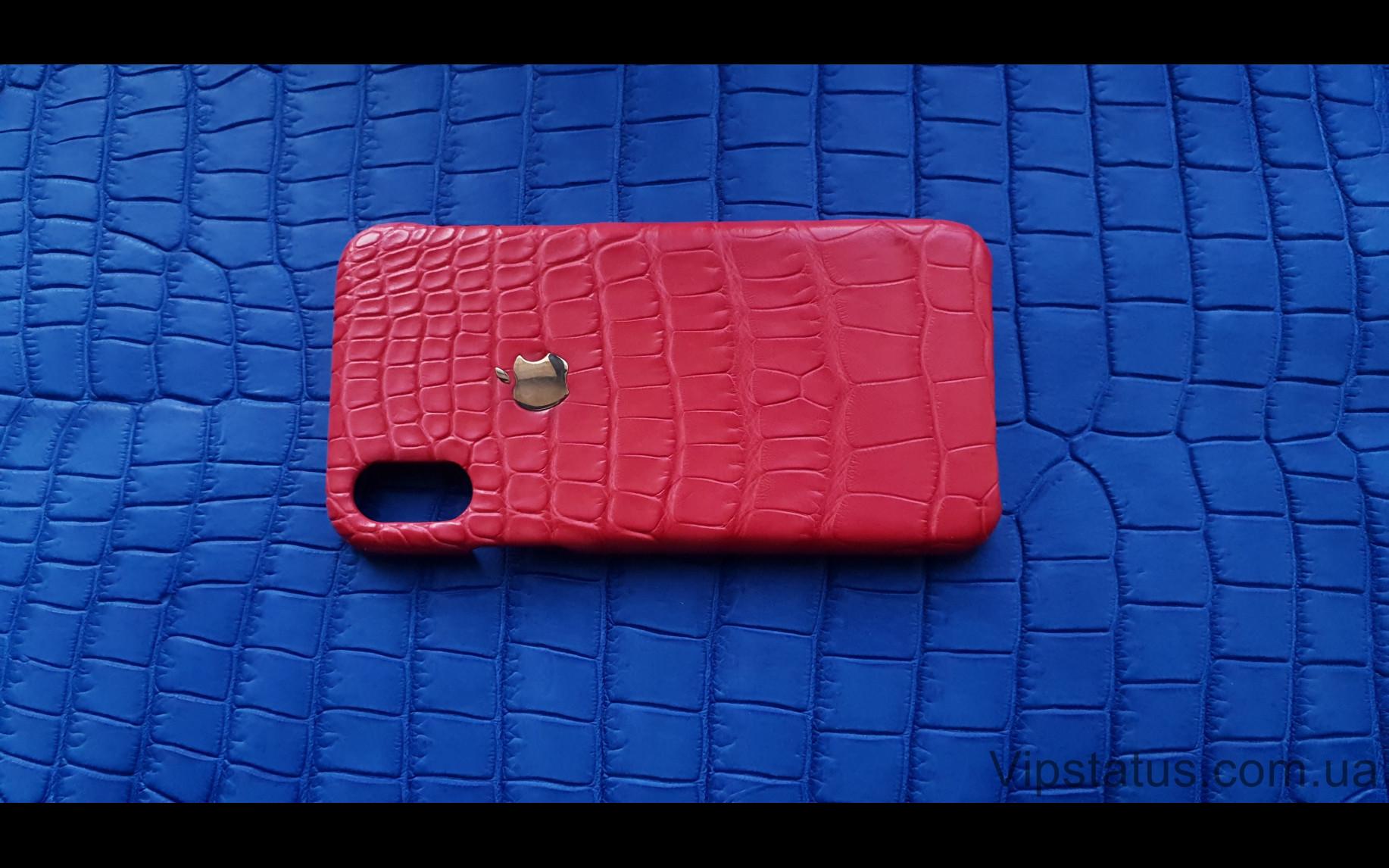 Elite Gold Apple Люксовый чехол IPhone X XS кожа крокодила Gold Apple Luxury case IPhone X XS Crocodile leather image 4
