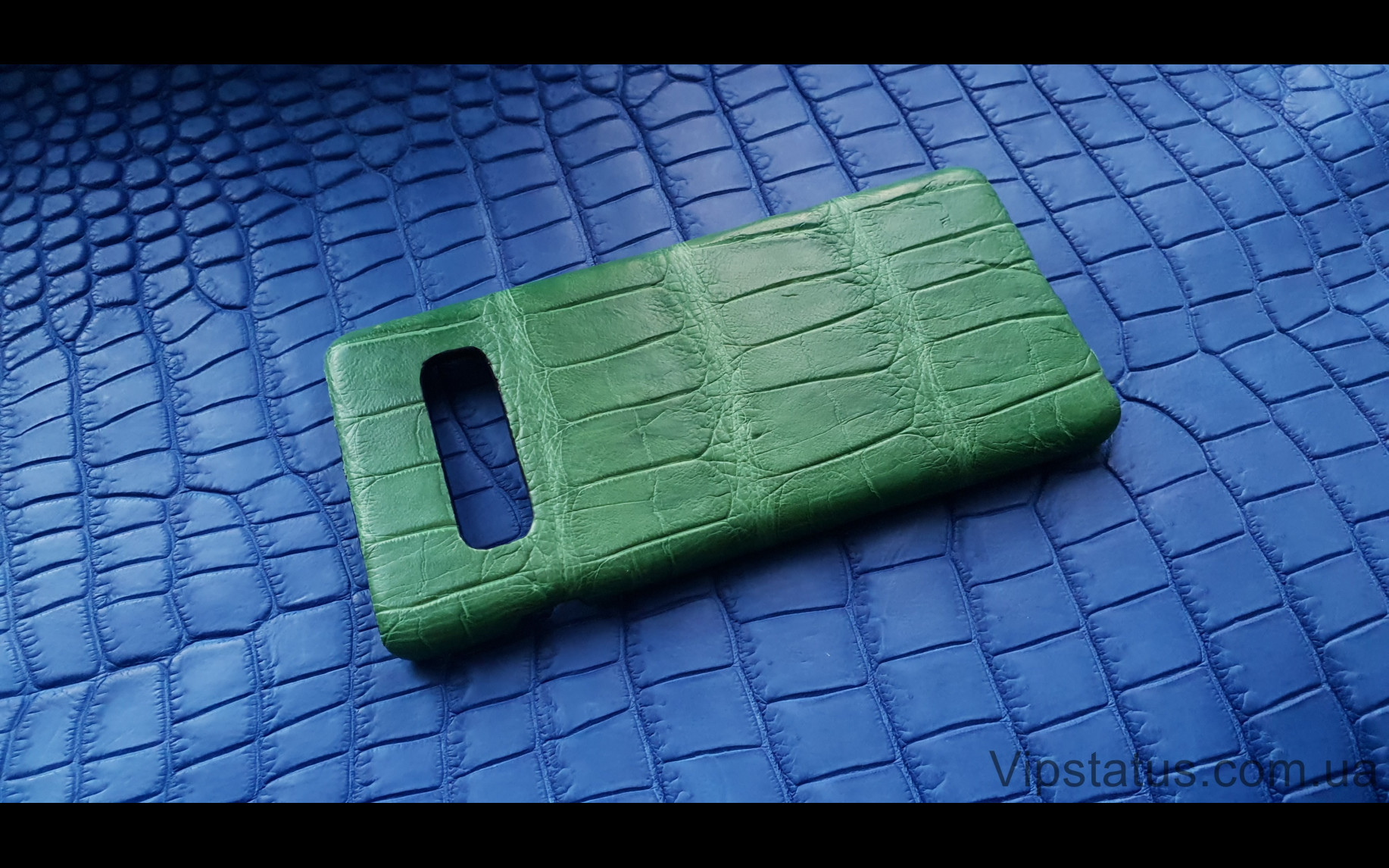 Elite Light Green Экзотический чехол Samsung Galaxy S10 Plus Light Green Exotic case Samsung Galaxy S10 Plus Crocodile leather image 1