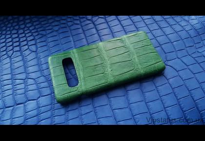 Light Green Экзотический чехол Samsung Galaxy S10 Plus кожа крокодила изображение