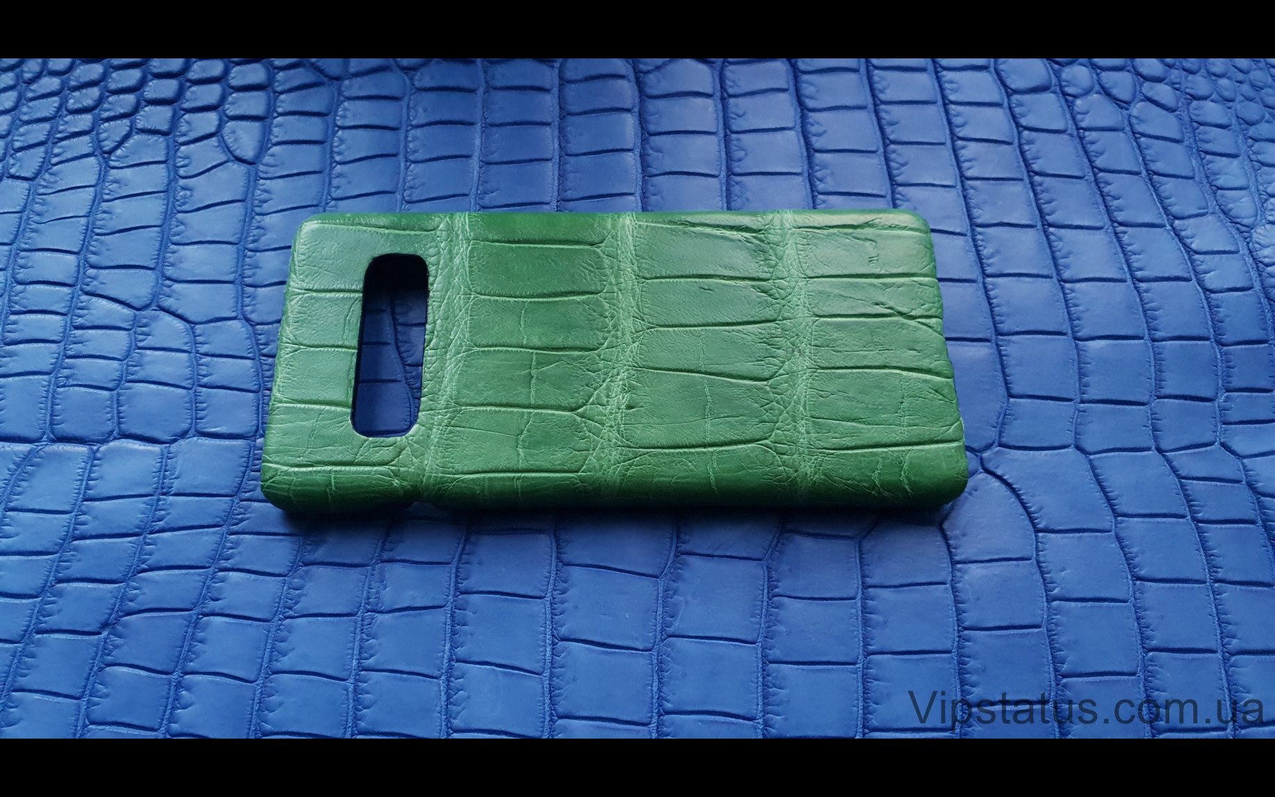 Elite Light Green Экзотический чехол Samsung Galaxy S10 Plus Light Green Exotic case Samsung Galaxy S10 Plus Crocodile leather image 3