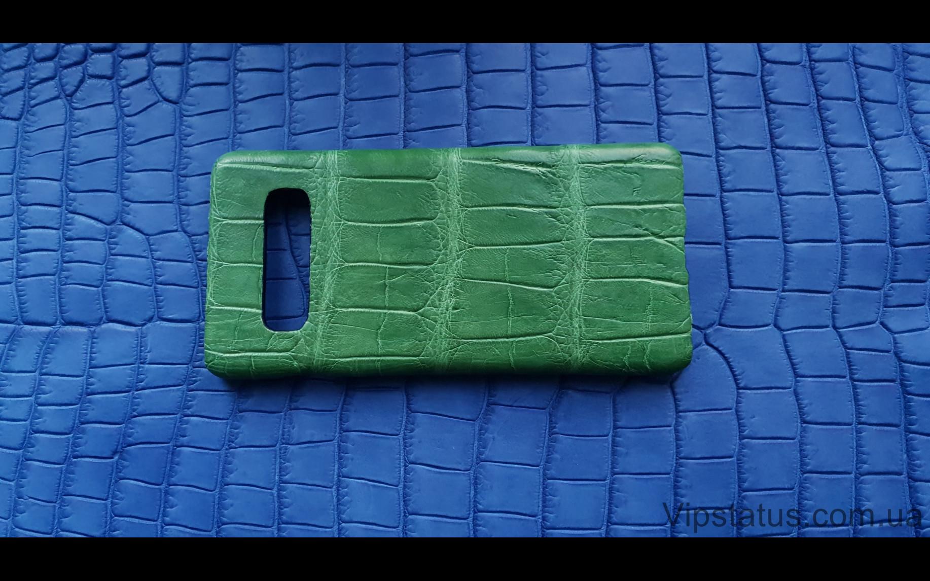 Elite Light Green Экзотический чехол Samsung Galaxy S10 Plus Light Green Exotic case Samsung Galaxy S10 Plus Crocodile leather image 4