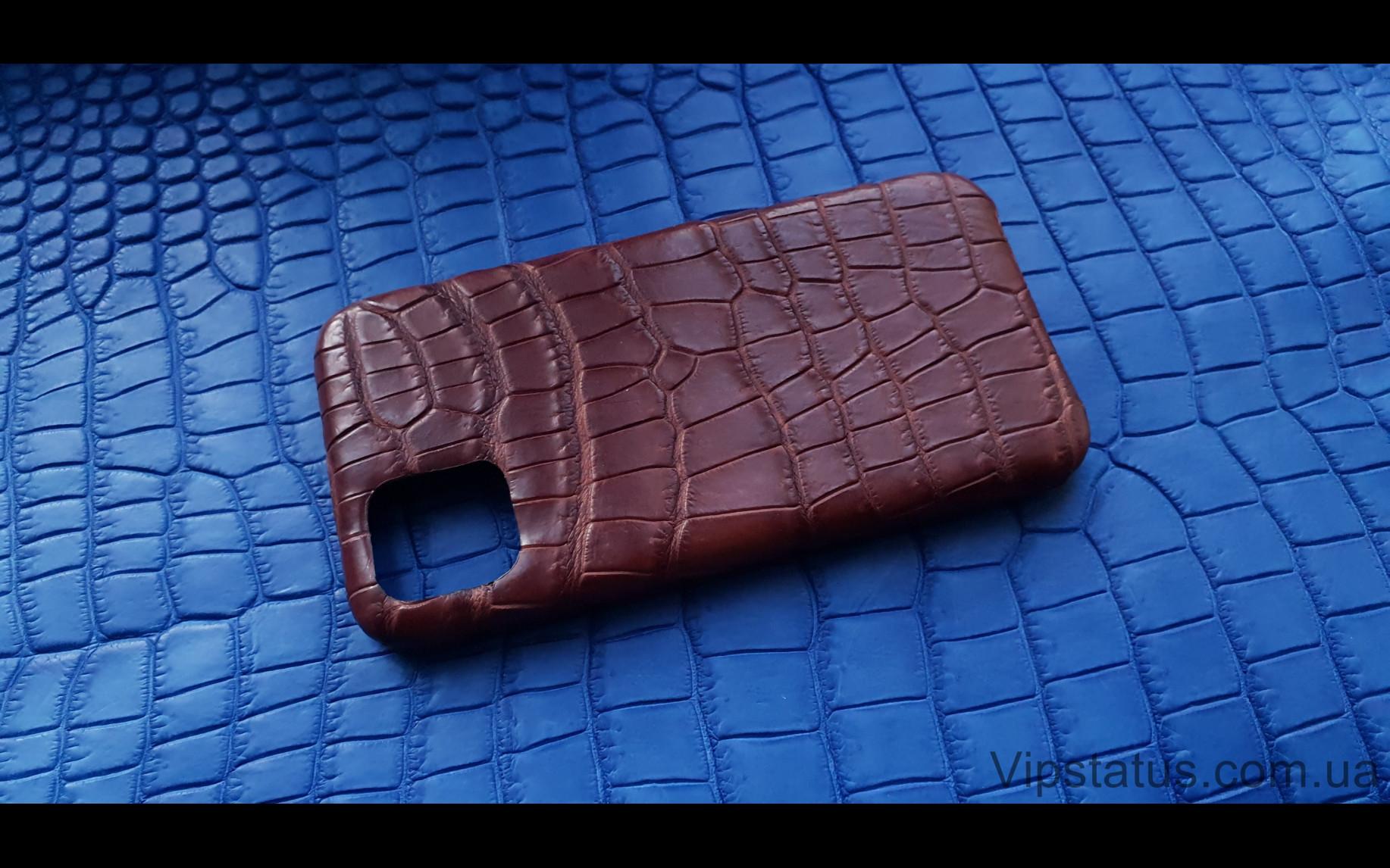Elite Rich Crocodile Эксклюзивный чехол IPhone 11 Pro Max Rich Crocodile Exclusive case IPhone 11 Pro Max Crocodile leather image 1