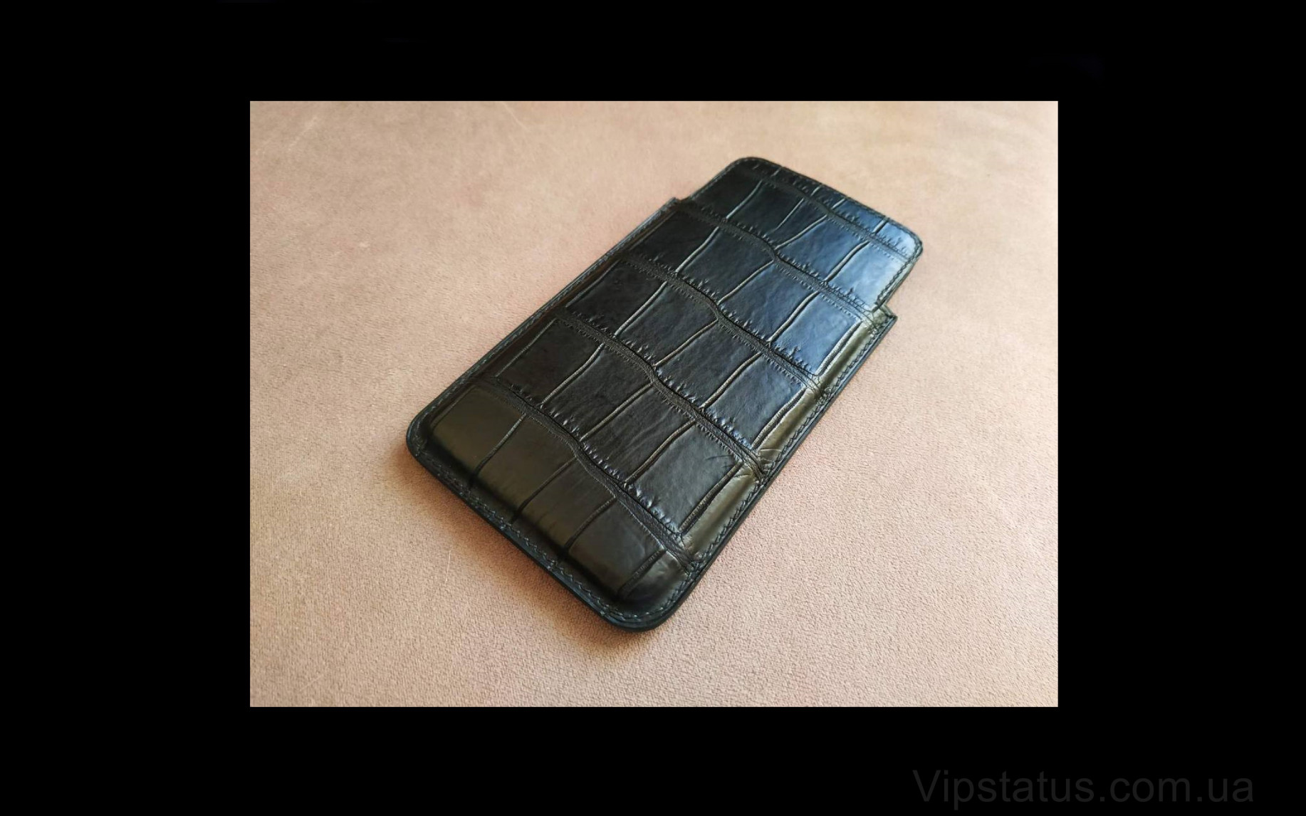 Elite Black Prince Вип кейс IPhone 11 12 Pro Max кожа крокодила Black Prince Vip case IPhone 11 12 Pro Max Crocodile leather image 2
