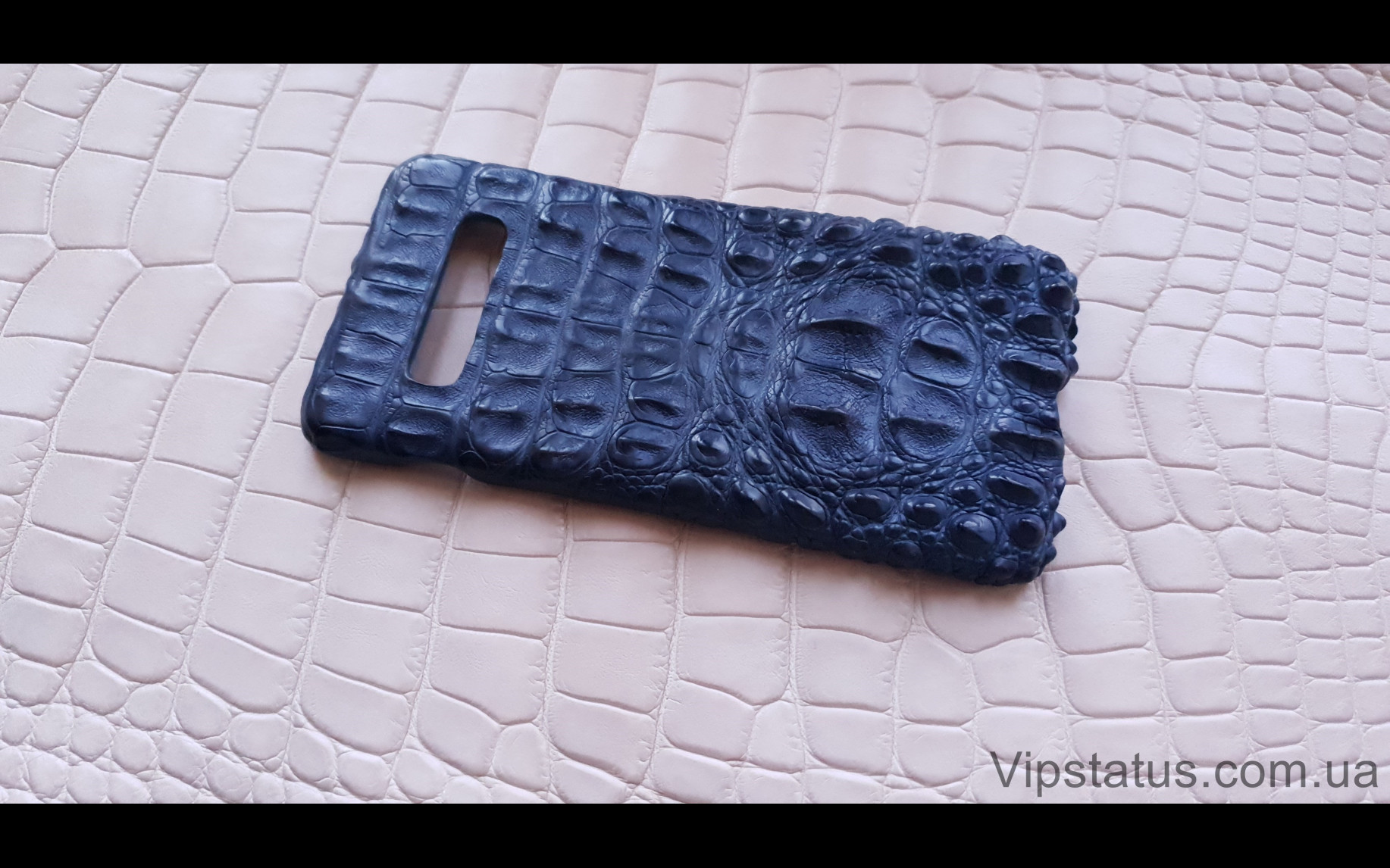 Elite Blue Crocodile Брутальный чехол Samsung S10 S20 S21 Plus Blue Crocodile Brutal case Samsung S10 S20 S21 Plus Crocodile leather image 1