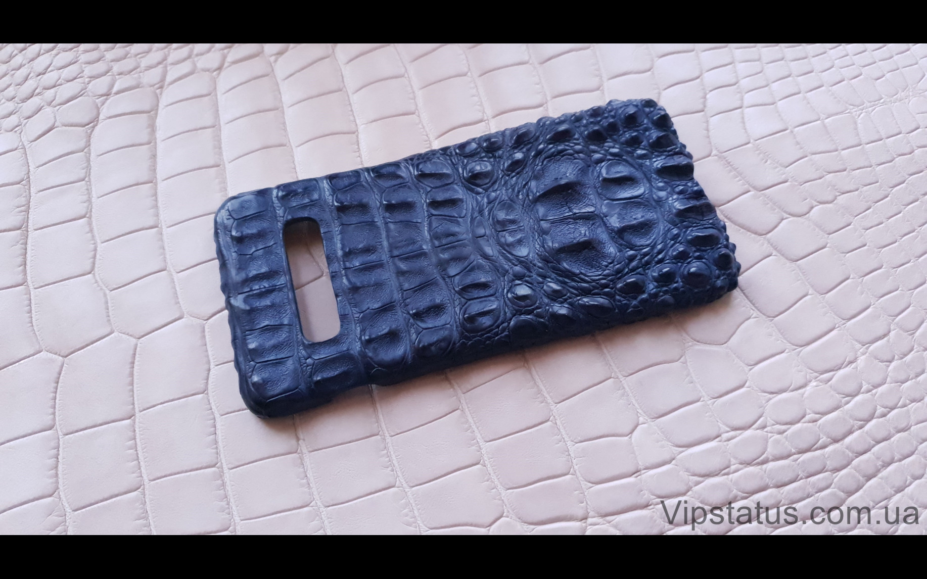 Elite Blue Crocodile Брутальный чехол Samsung S10 S20 S21 Plus Blue Crocodile Brutal case Samsung S10 S20 S21 Plus Crocodile leather image 2