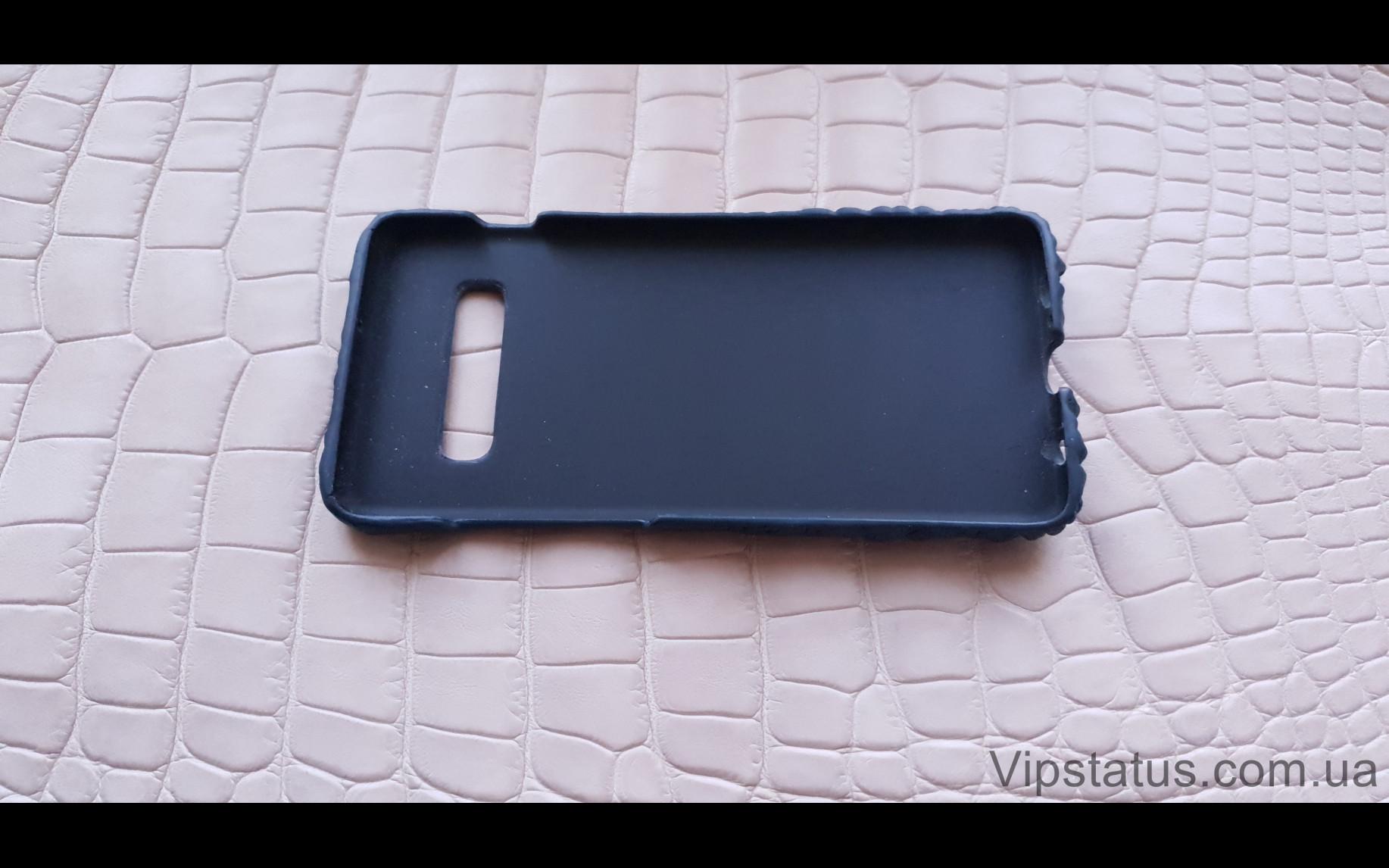 Elite Blue Crocodile Брутальный чехол Samsung S10 S20 S21 Plus Blue Crocodile Brutal case Samsung S10 S20 S21 Plus Crocodile leather image 5