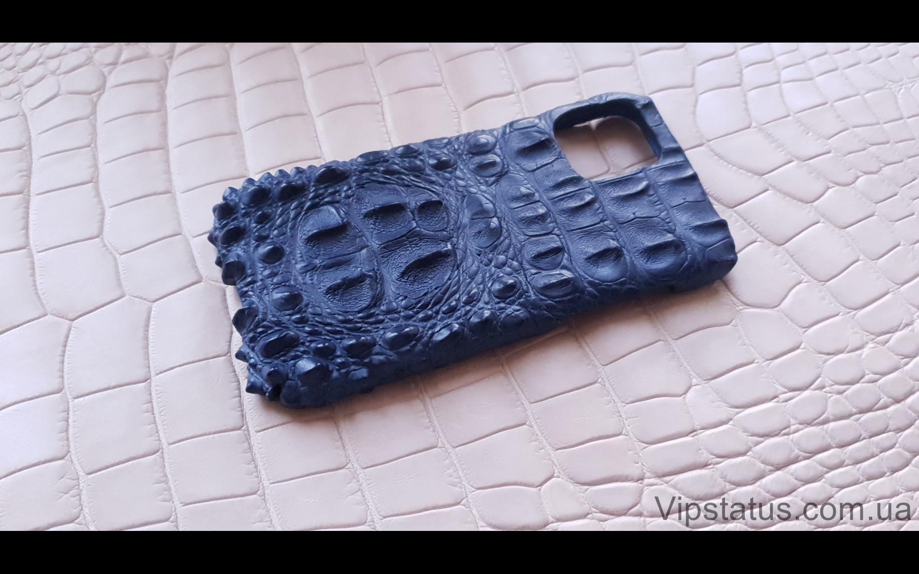 Elite Blue King Премиум чехол IPhone 11 12 Pro Max кожа крокодила Blue King Premium case IPhone 11 12 Pro Max Crocodile leather image 1