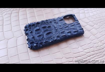 Blue King Premium case IPhone 11 12 Pro Max Crocodile leather image