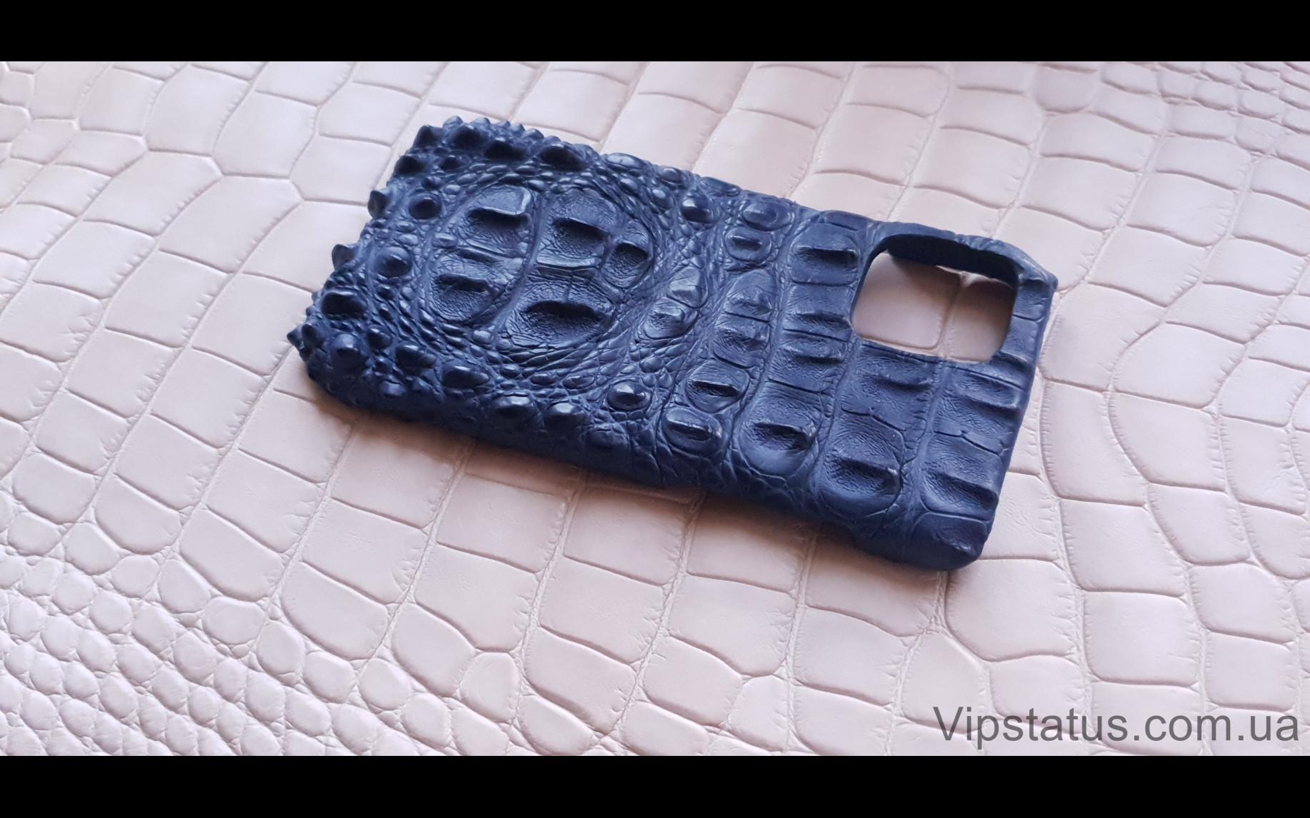 Elite Blue King Премиум чехол IPhone 11 12 Pro Max кожа крокодила Blue King Premium case IPhone 11 12 Pro Max Crocodile leather image 2