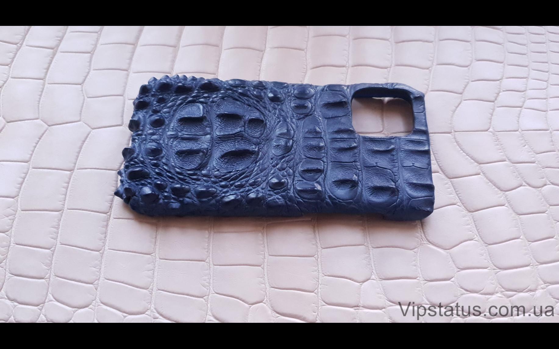 Elite Blue King Премиум чехол IPhone 11 12 Pro Max кожа крокодила Blue King Premium case IPhone 11 12 Pro Max Crocodile leather image 4