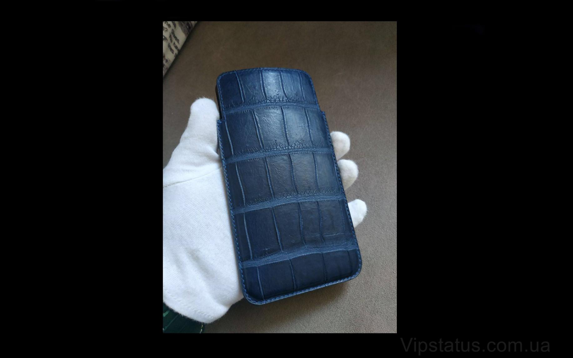 Elite Blue Style Эксклюзивный кейс IPhone 11 12 Pro Max Blue Style Exclusive case IPhone 11 12 Pro Max Crocodile leather image 1