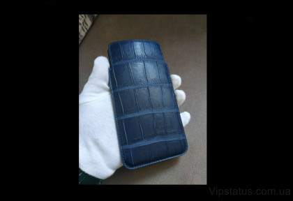 Blue Style Exclusive case IPhone 11 12 Pro Max Crocodile leather image