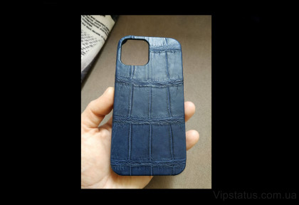 Blue Twilight Elite case IPhone 11 12 Pro Max Crocodile leather image