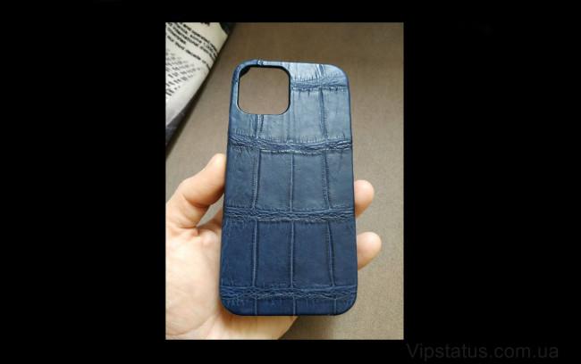 Elite Blue Twilight Элитный чехол IPhone 11 12 Pro Max Blue Twilight Elite case IPhone 11 12 Pro Max Crocodile leather image 1