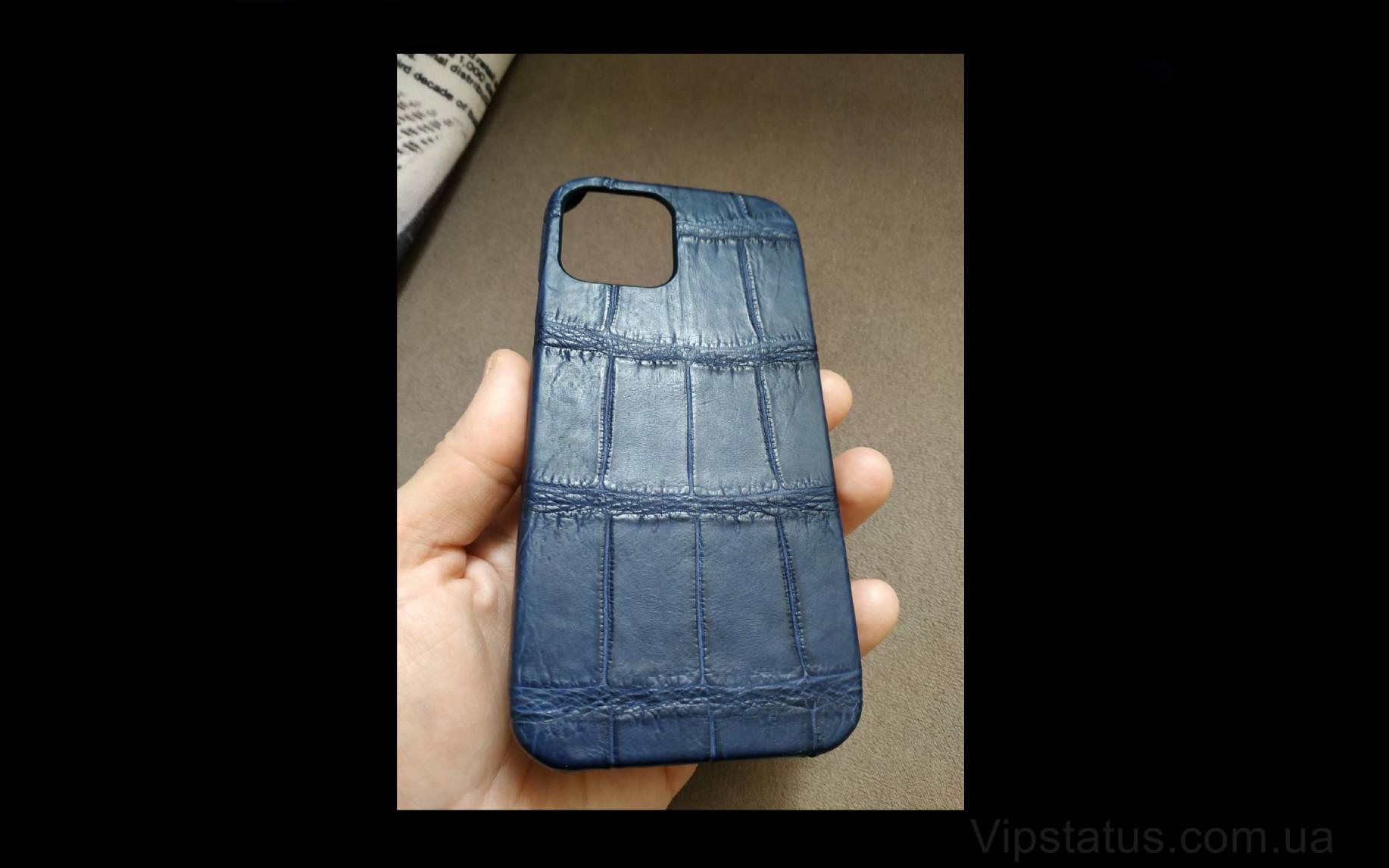 Elite Blue Twilight Элитный чехол IPhone 11 12 Pro Max Blue Twilight Elite case IPhone 11 12 Pro Max Crocodile leather image 2