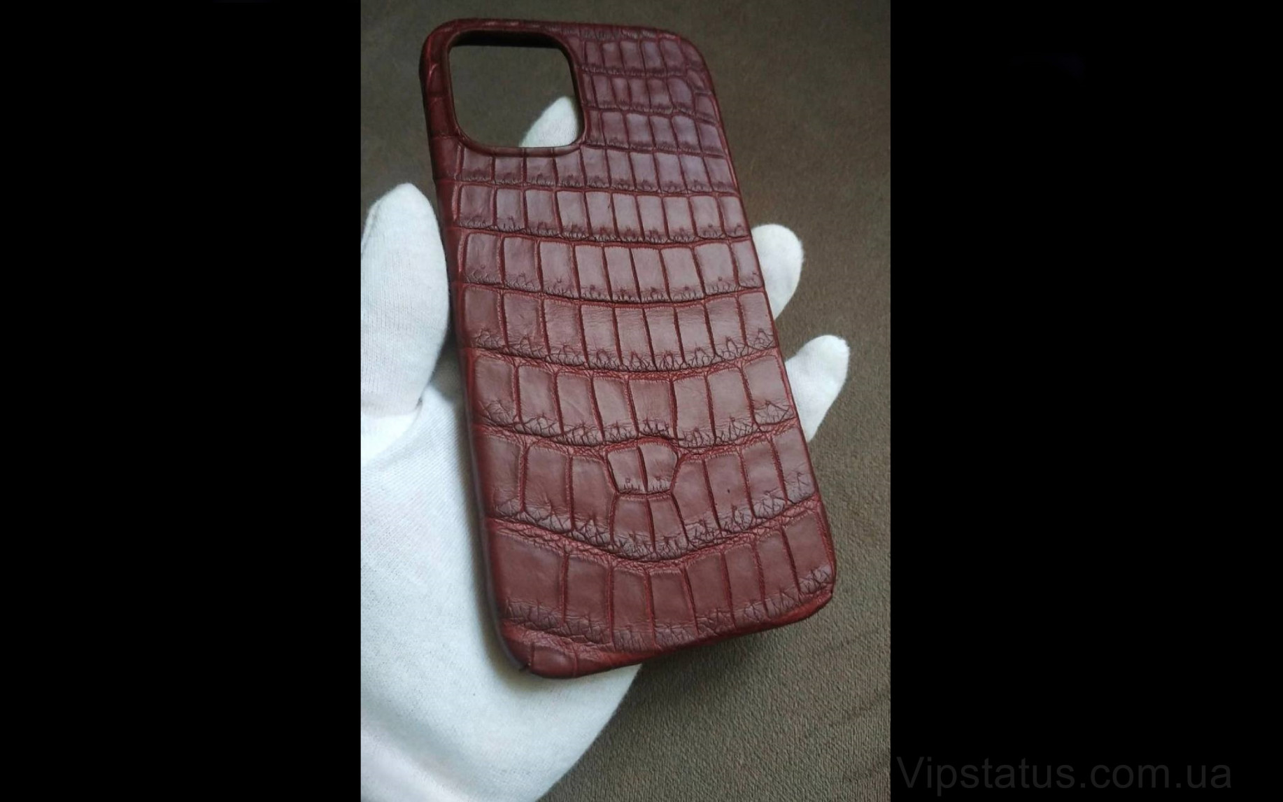Elite Cherry Edition Элитный чехол IPhone 11 12 Pro Max Cherry Edition Elite case IPhone 11 12 Pro Max Crocodile leather image 1