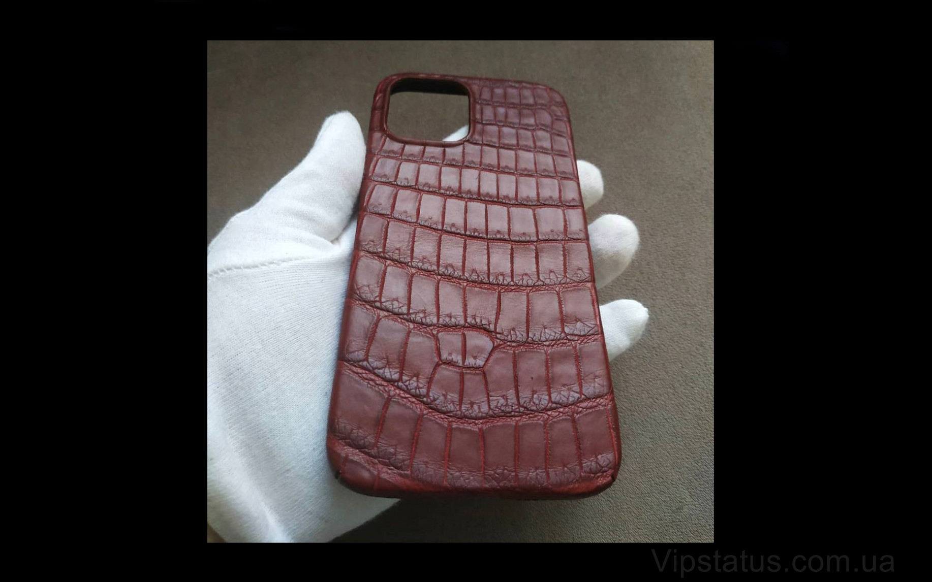 Elite Cherry Edition Элитный чехол IPhone 11 12 Pro Max Cherry Edition Elite case IPhone 11 12 Pro Max Crocodile leather image 3