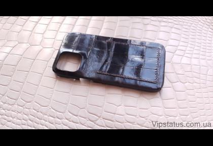 Dark Brown Exotic case IPhone 11 12 Pro Max Crocodile leather image