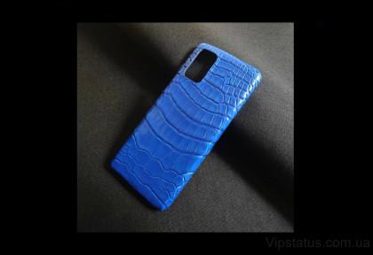 Ice Blue Luxury case Samsung S20 S21 Plus Crocodile leather image