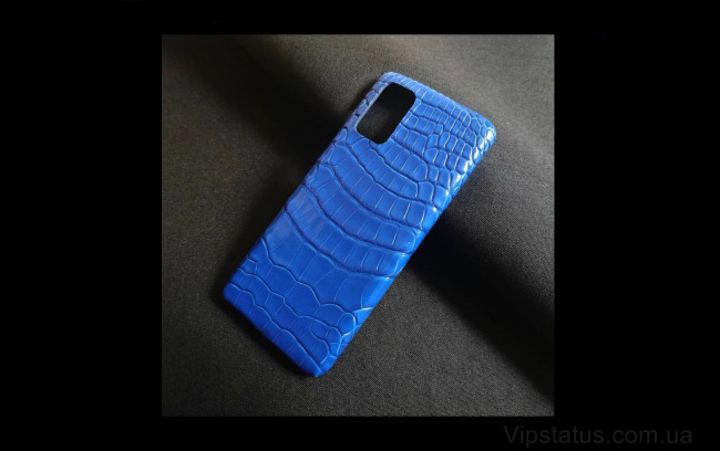 Elite Ice Blue Лакшери чехол Samsung S20 S21 Plus кожа крокодила Ice Blue Luxury case Samsung S20 S21 Plus Crocodile leather image 1