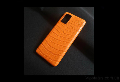 Orange Crocodile Vip case Samsung S20 S21 Plus Crocodile leather image