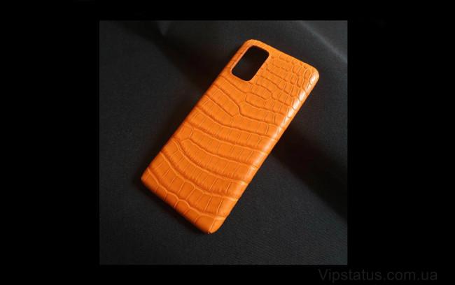 Elite Orange Crocodile Vip чехол Samsung S20 S21 Plus кожа крокодила Orange Crocodile Vip case Samsung S20 S21 Plus Crocodile leather image 1