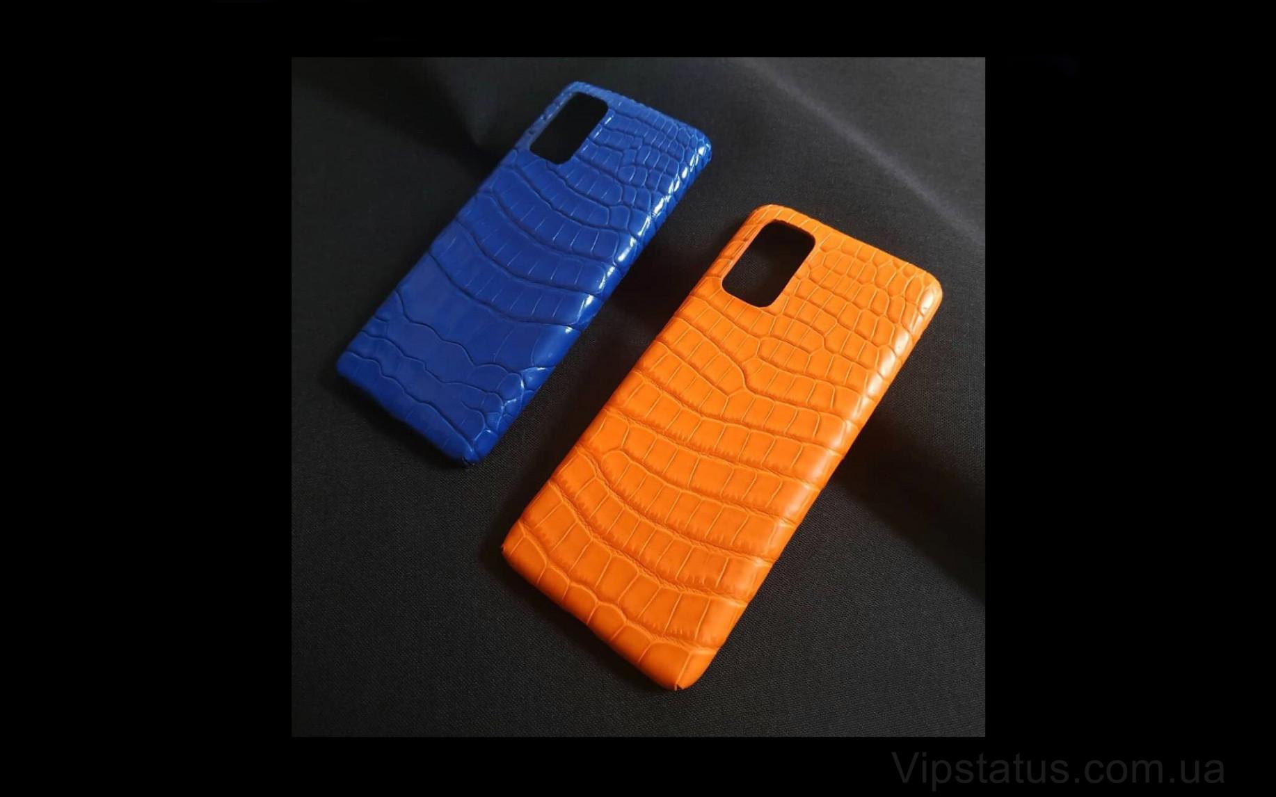 Elite Orange Crocodile Vip чехол Samsung S20 S21 Plus кожа крокодила Orange Crocodile Vip case Samsung S20 S21 Plus Crocodile leather image 2