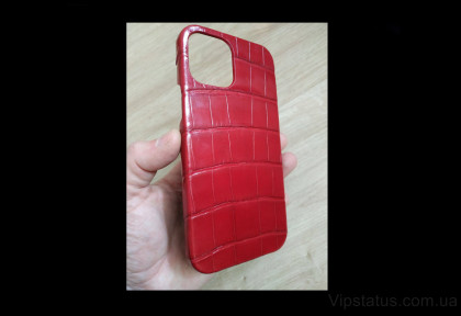 Red Style Premium case IPhone 11 12 Pro Max Crocodile leather image