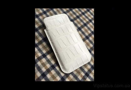 White Crocodile Luxury case IPhone 11 12 Pro Max Crocodile leather image