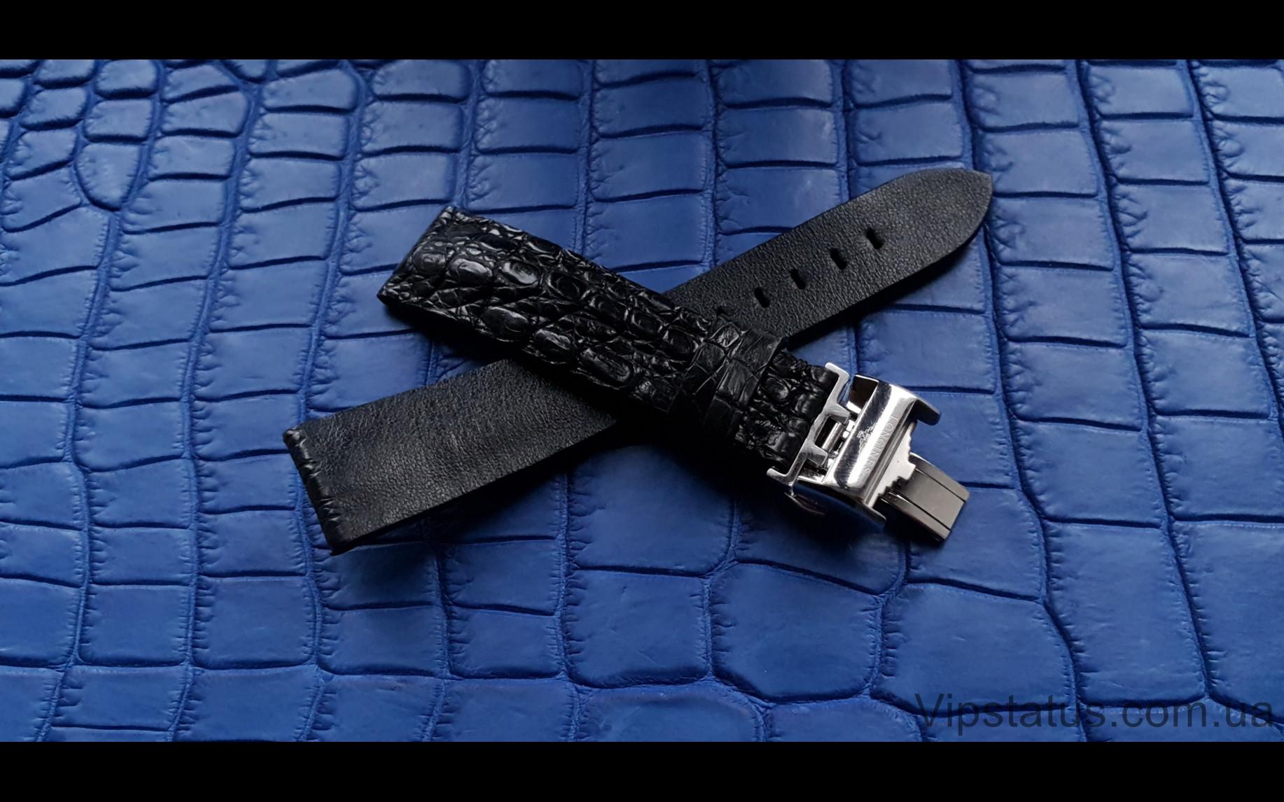 Elite Лакшери ремешок для часов Longines кожа крокодила Luxury Crocodile Strap for Longines watches image 3