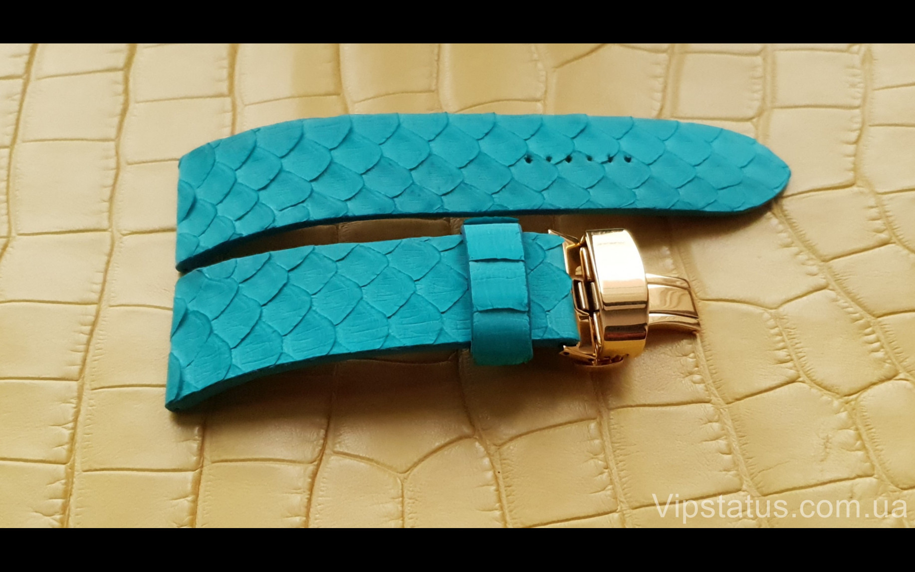 Элитный Люксовый ремешок для часов Tiffany кожа питона Люксовый ремешок для часов Tiffany кожа питона изображение 3