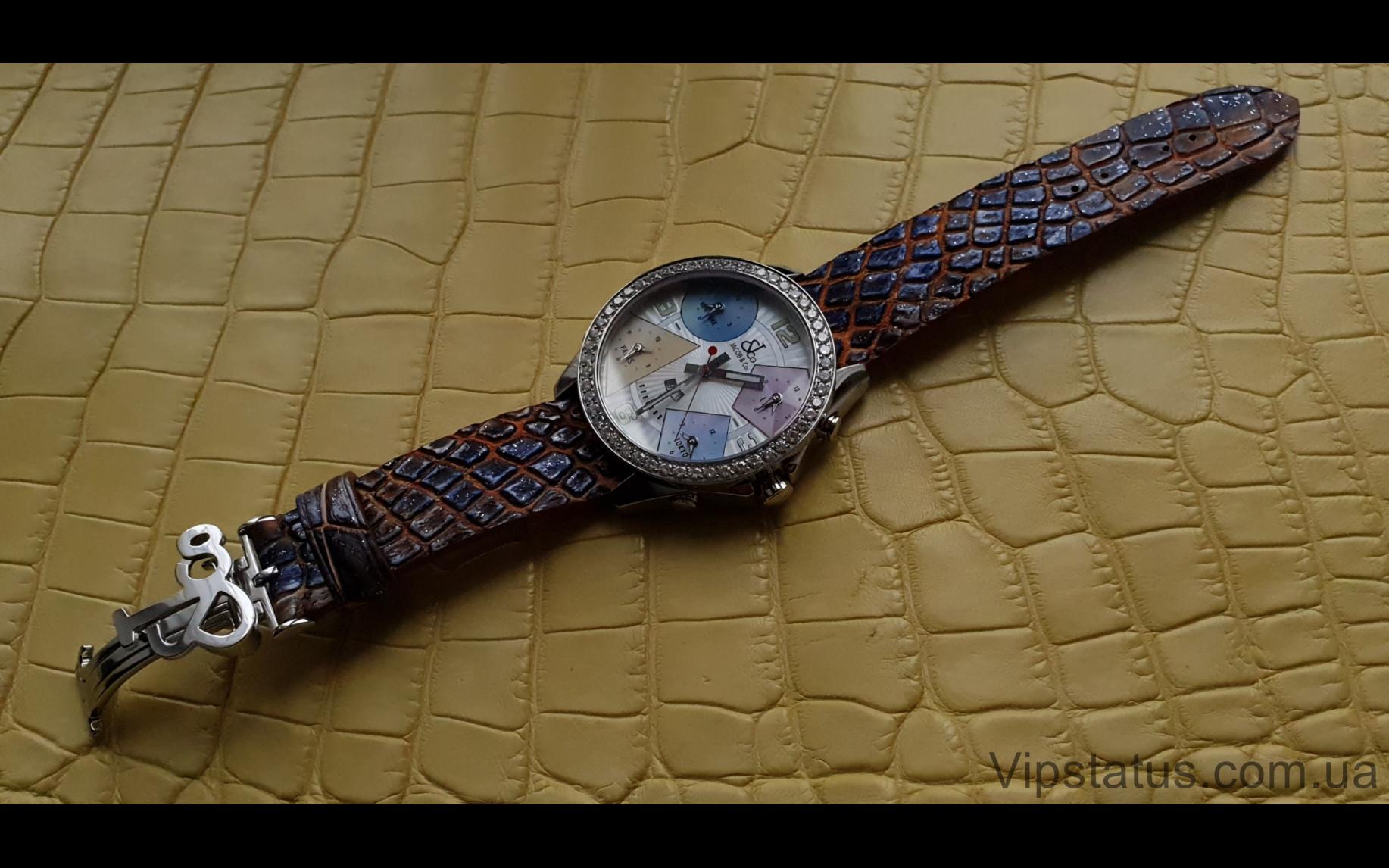 Elite Премиум ремешок для часов Jacob&Co кожа крокодила Premium Crocodile Strap for Jacob&Co watches image 3