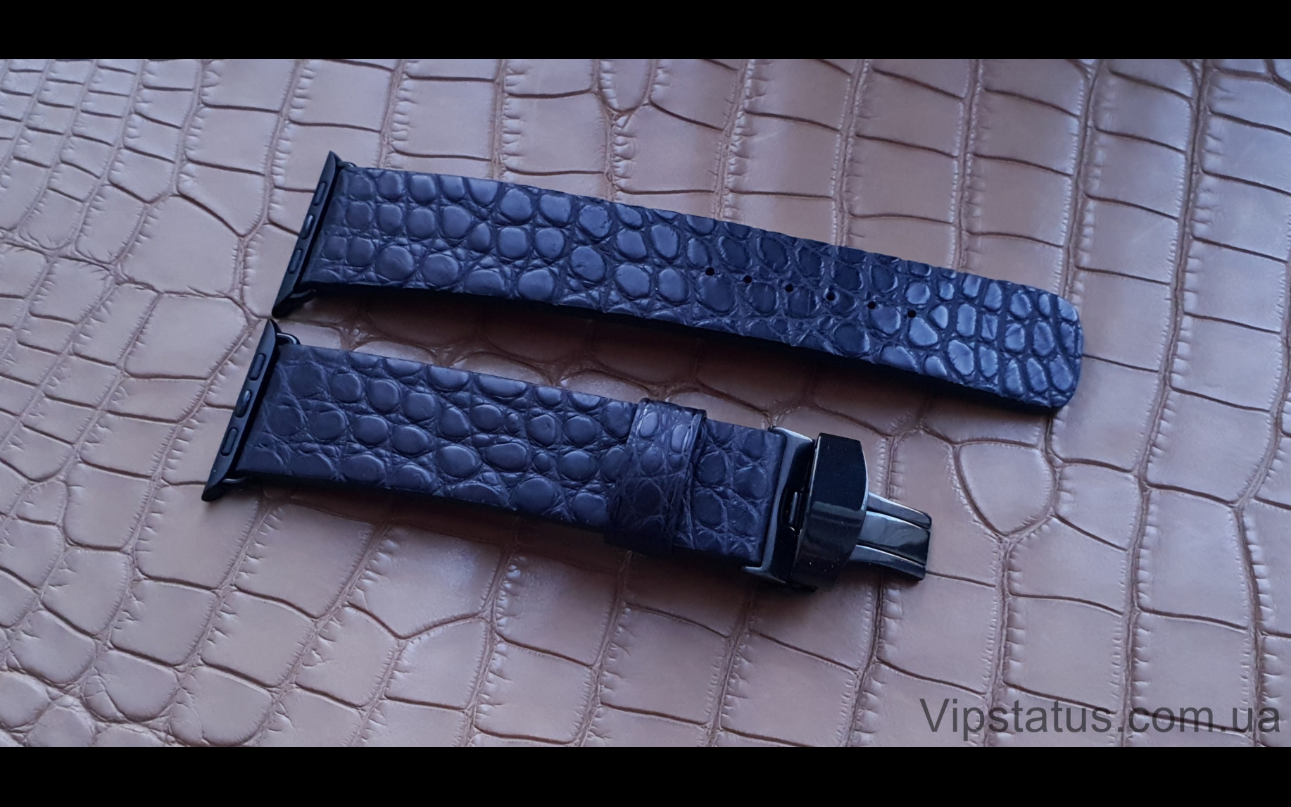 Elite Экзотический ремешок для часов Apple кожа крокодила Exotic Crocodile Strap for Apple watches image 2
