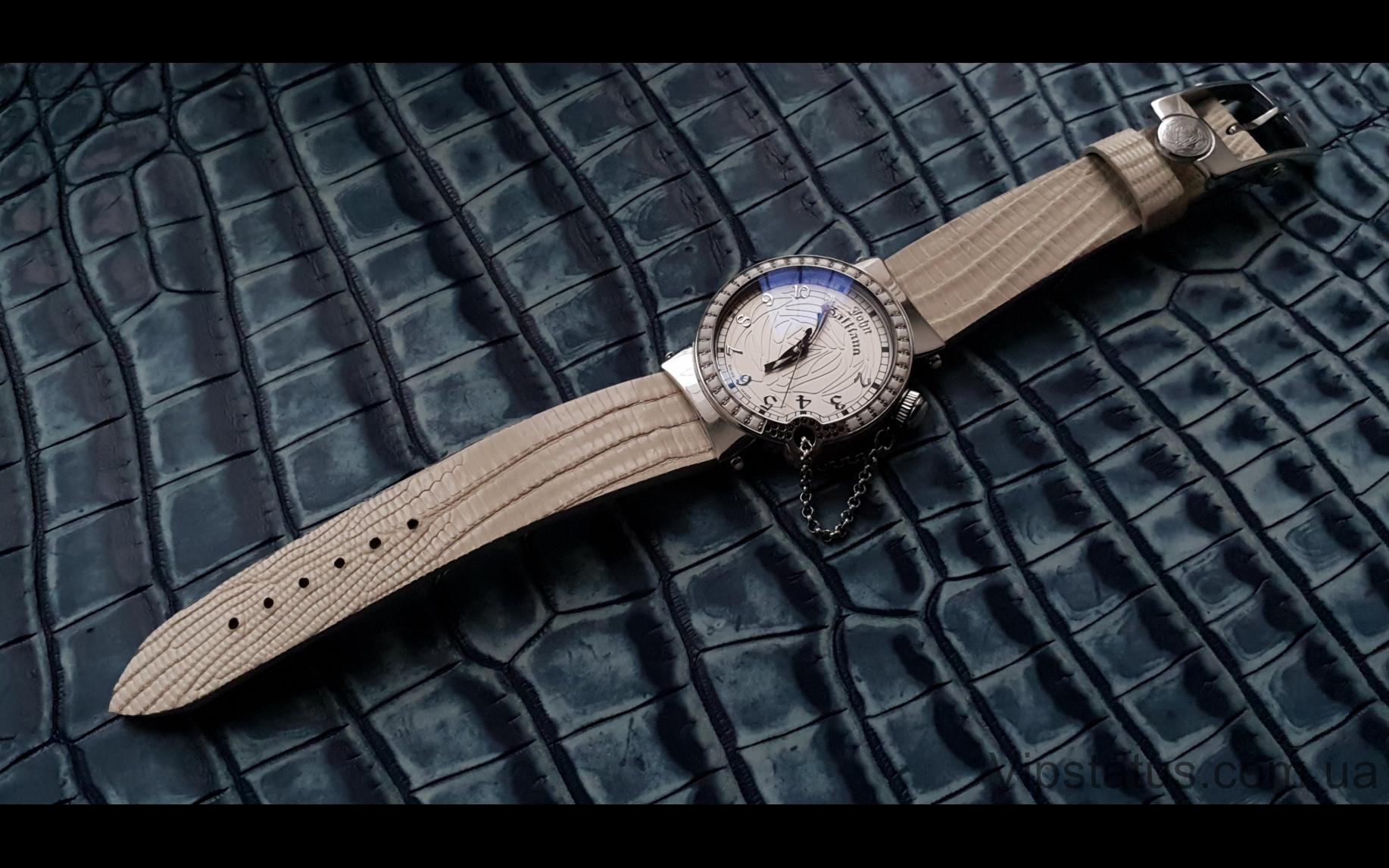 Elite Экзотический ремешок для часов John Galliano кожа крокодила Exotic Crocodile Strap for John Galliano watches image 4
