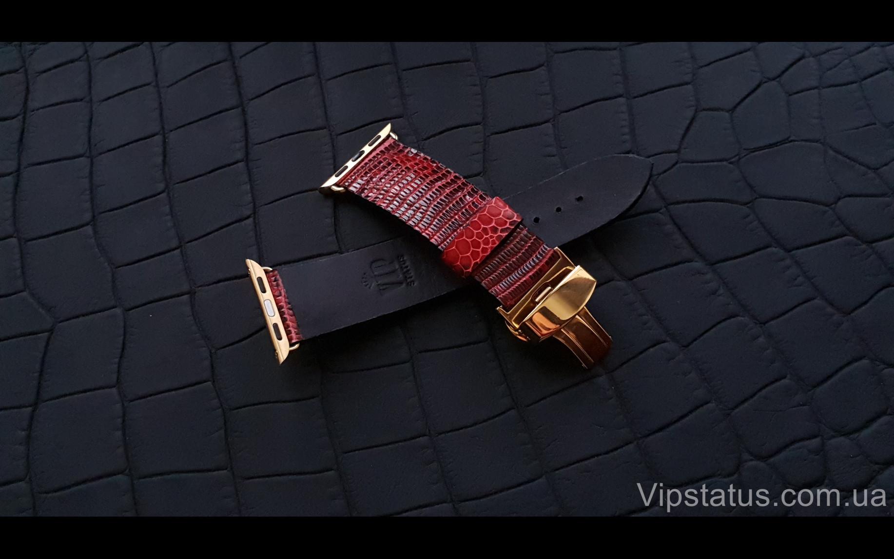 Элитный Эксклюзивный ремешок для часов Apple кожа игуаны Эксклюзивный ремешок для часов Apple кожа игуаны изображение 3